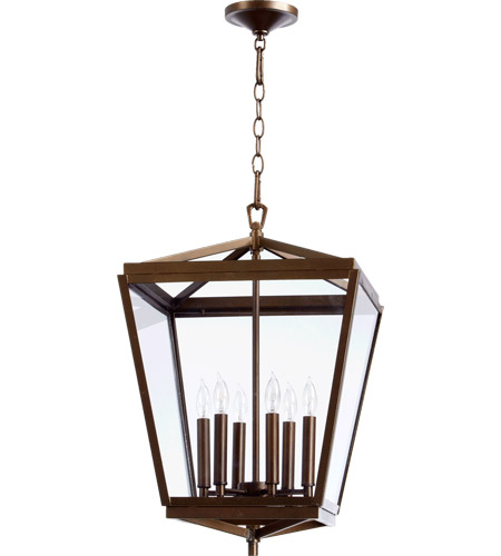 Quorum 6604-6-86 Kaufmann 6 Light 15 inch Oiled Bronze Foyer Light Ceiling Light photo