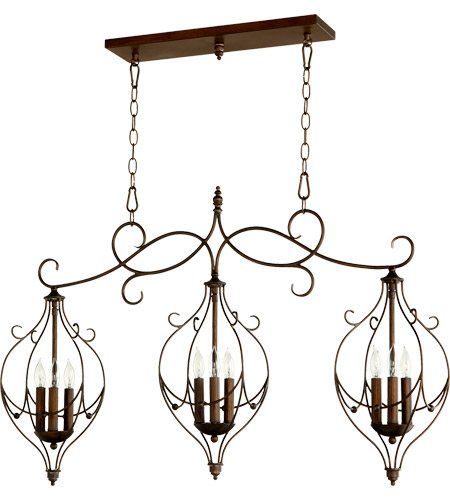 Quorum 6605-9-39 Ariel 9 Light 41 inch Vintage Copper Island Light Ceiling Light photo