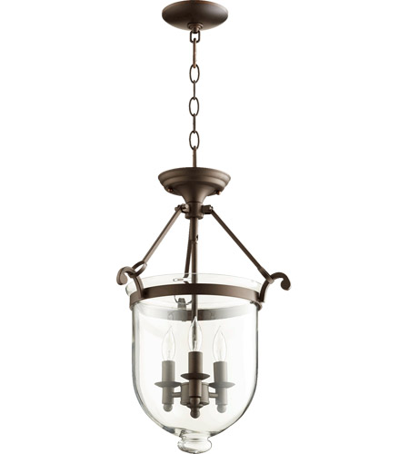 Quorum 6702-3-86 Signature 3 Light 14 inch Oiled Bronze Foyer Light Ceiling Light photo