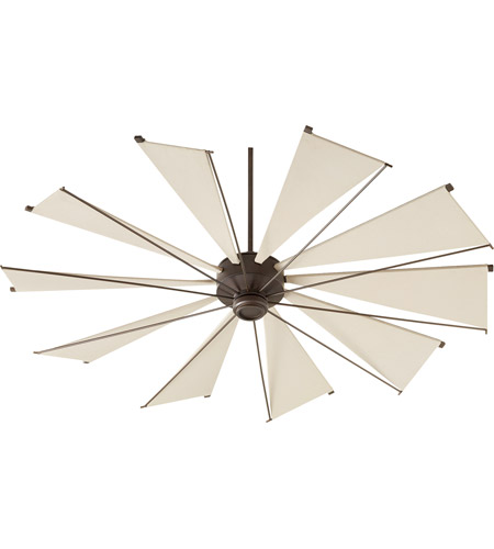 Quorum 67210-86 Mykonos 72 inch Oiled Bronze with Khaki Blades Ceiling Fan  photo