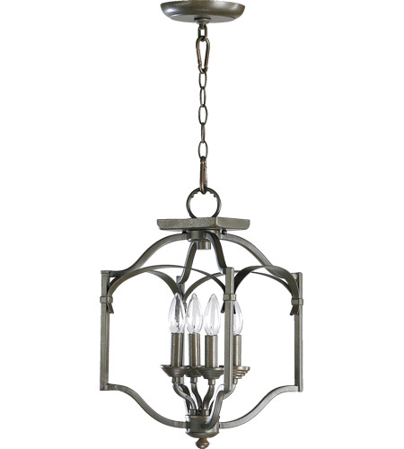 Quorum 6796-4-86 Atwood 4 Light 11 inch Oiled Bronze Foyer Light Ceiling Light photo