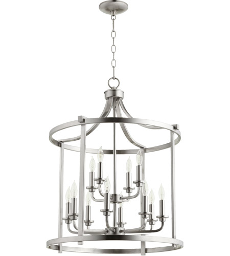 Quorum 6807 12 65 Lancaster Light 22 Inch Satin Nickel Foyer Pendant Ceiling