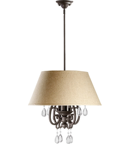 Quorum 6813-4-86 Anders 4 Light 20 inch Oiled Bronze Pendant Ceiling Light photo
