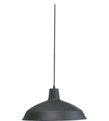 Quorum 6822-59 Signature 1 Light 16 inch Matte Black Pendant Ceiling Light  photo
