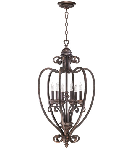 Quorum 6826-6-44 Summerset 6 Light 18 inch Toasted Sienna Foyer Light Ceiling Light photo