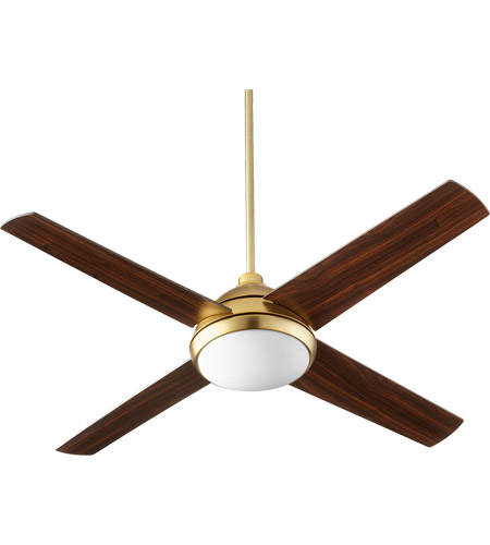 Quorum 68524-80 Quest 52 inch Aged Brass with Walnut Blades Indoor Ceiling Fan photo