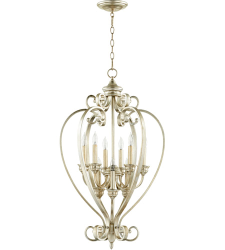 Quorum 6854-9-60 Bryant 20 inch Aged Silver Leaf Entry Pendant Ceiling Light photo thumbnail