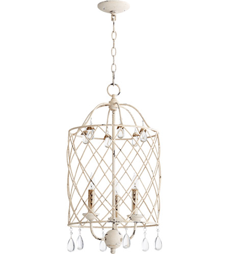 quorum 6944 3 70 venice 3 light 14 inch persian white foyer light