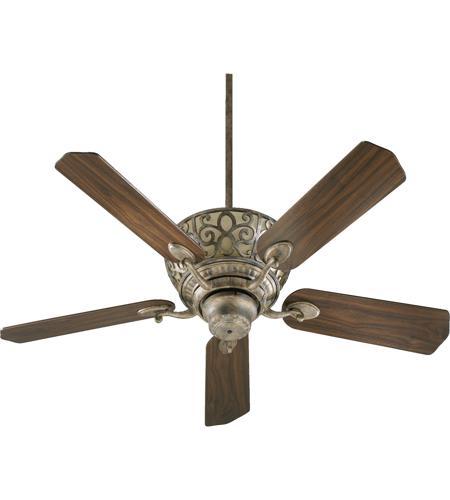 Quorum 69525 58 Cimarron 52 Inch Mystic Silver Ceiling Fan
