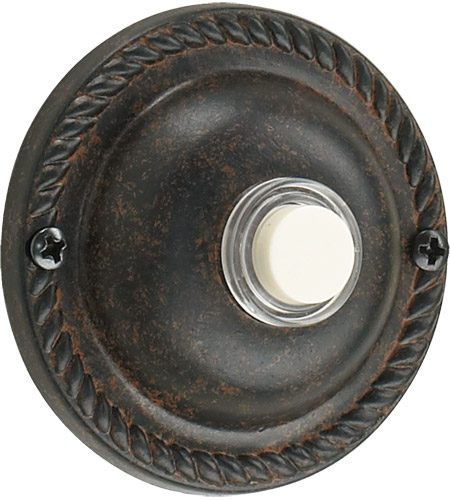 Quorum 7-305-44 Lighting Accessory Toasted Sienna Traditional Round Doorbell photo