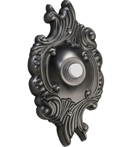 Quorum 7-309-92 Lighting Accessory Antique Silver Opulent Round Doorbell photo