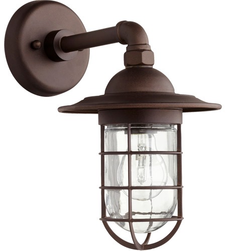 Quorum 7082 86 Bowery 1 Light 8 Inch Oiled Bronze Wall Sconce Wall Light  Photo