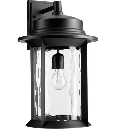 Quorum 7246-11-69 Charter 19 inch Noir Outdoor Wall Lantern, Clear Hammered photo