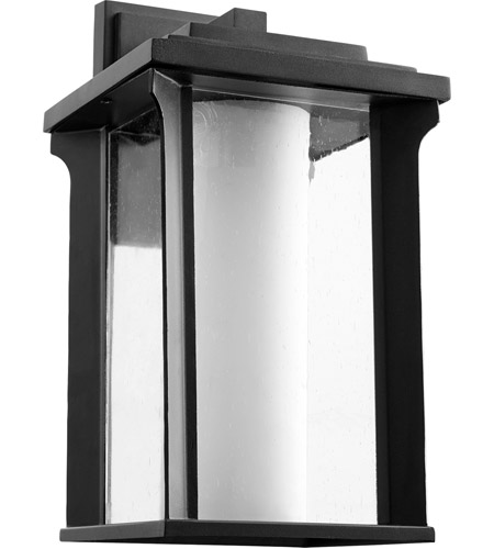 Quorum 7411-8-69 Garrett 1 Light 14 inch Noir Outdoor Wall Lantern photo