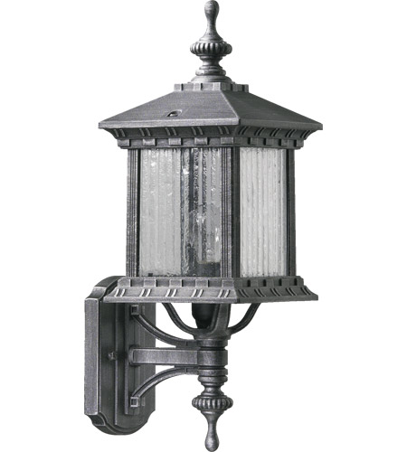 Quorum 7460-72 Huxley 1 Light 18 inch Rustic Silver Outdoor Wall Lantern photo