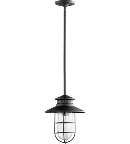 Quorum 7699 69 Moriarty 1 Light 10 Inch Noir Outdoor Pendant Medium