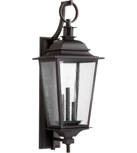 Quorum 7730 3 69 Pavilion Light 31 Inch Noir Outdoor Wall Lantern