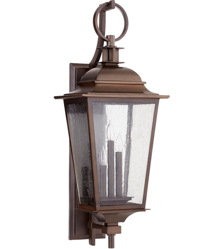 Quorum 7730-3-86 Pavilion 31 inch Oiled Bronze Outdoor Wall Lantern  photo