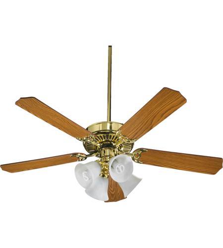 quorum 77520 8102 capri v 52 inch polished brass ceiling. Black Bedroom Furniture Sets. Home Design Ideas