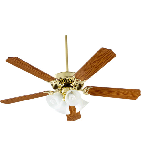 Oak Ceiling Fans With Lights : Quorum capri v inch polished brass with