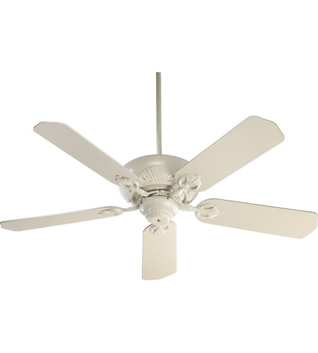 Quorum 78525 67 Caux 52 Inch Antique White Ceiling Fan In Light Kit Not Included