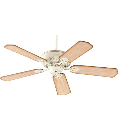 Quorum 78525 70 chateaux 52 inch persian white with distressed quorum 78525 70 chateaux 52 inch persian white with distressed weathered pine blades ceiling fan in light kit not included aloadofball Gallery