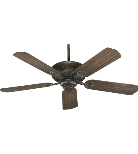 Oak Ceiling Fans With Lights : Quorum chateaux inch corsican gold with dark