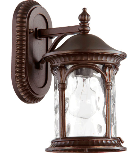 Quorum 7900-86 Riviera 1 Light 13 inch Oiled Bronze Outdoor Wall Lantern photo