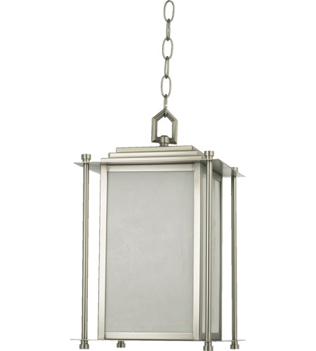 Sham 4 Light 10 Inch Satin Nickel Outdoor Hanging Lantern
