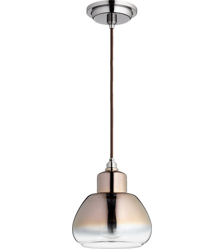 Quorum 8000-1311 Signature 1 Light 7 inch Gunmetal Pendant Ceiling Light in Coffee Ombre photo