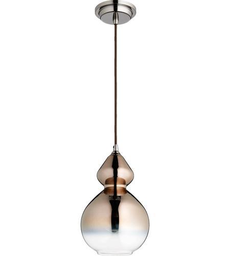 Quorum 8002 1311 Fort Worth 1 Light 8 Inch Gunmetal Pendant Ceiling Light In Coffee Ombre