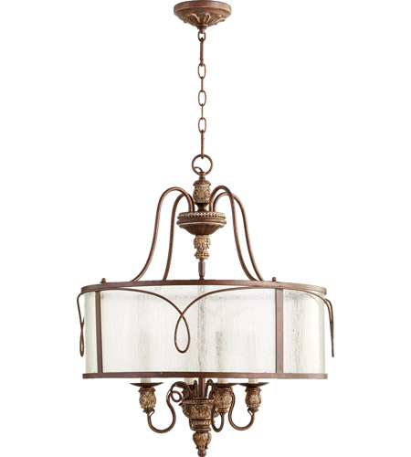 Quorum 8006-4-39 Salento 4 Light 22 inch Vintage Copper Pendant Ceiling Light photo