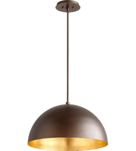 Quorum 8020 7486 Dome 1 Light 20 Inch Oiled Bronze With