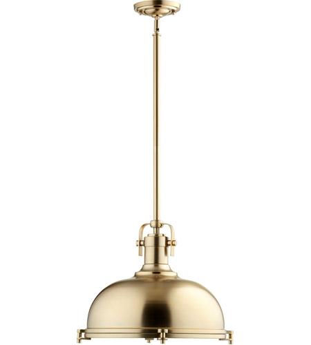 Quorum 804 17 80 signature 1 light 17 inch aged brass pendant quorum 804 17 80 signature 1 light 17 inch aged brass pendant ceiling light aloadofball Images