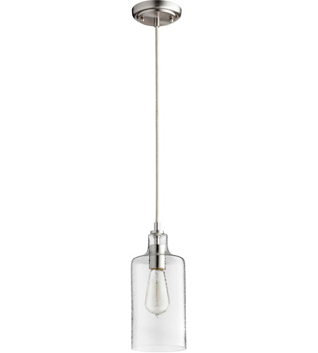 Quorum 8041-65 Signature 1 Light 5 inch Satin Nickel Mini Pendant Ceiling Light photo