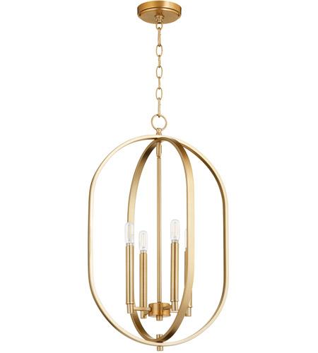 Quorum 8044 4 80 Collins 4 Light 16 Inch Aged Brass Mini Chandelier Ceiling Light