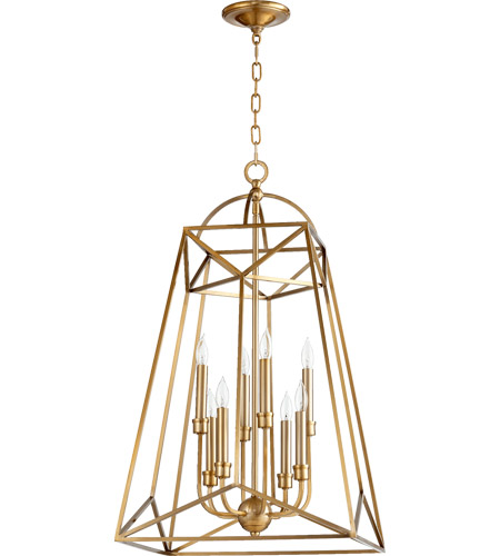Quorum Aged Brass Pendants