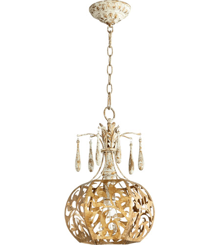 Quorum 8356-61 Leduc 1 Light 11 inch Florentine Gold Pendant Ceiling Light photo
