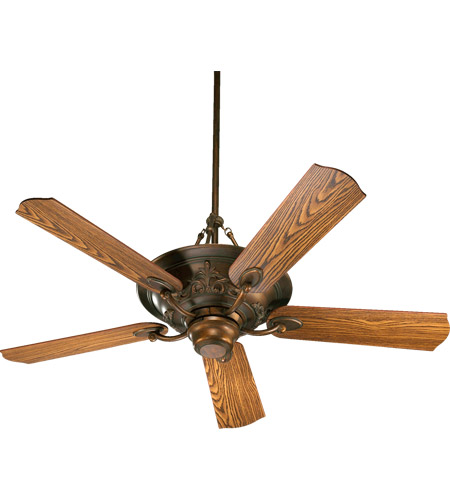 Quorum 83565-88 Salon 56 inch Corsican Gold with Dark Oak Blades Ceiling Fan photo
