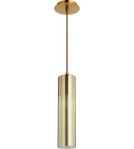 Quorum 837 0280 laser 1 light 4 inch aged brass pendant ceiling light aloadofball Images