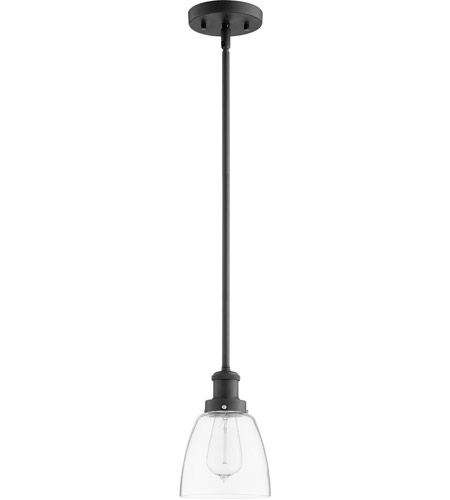 Quorum 878-169 Signature 1 Light 6 inch Noir Mini Pendant Ceiling Light photo