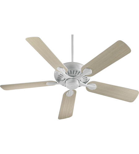 Quorum 91525 6 Pinnacle 52 Inch White With Washed Oak Blades Ceiling Fan