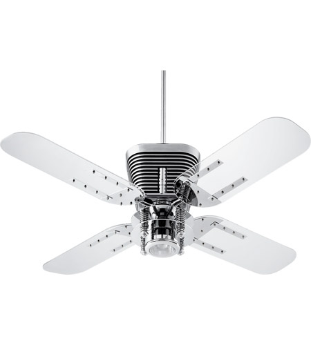 Quorum 93524 14 retro 52 inch chrome with clear acrylic blades quorum 93524 14 retro 52 inch chrome with clear acrylic blades ceiling fan aloadofball Images