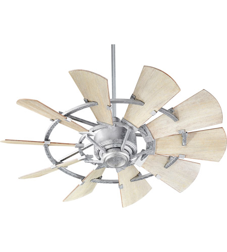 Quorum 94410 9 windmill 44 inch galvanized with weathered oak blades quorum 94410 9 windmill 44 inch galvanized with weathered oak blades indoor ceiling fan aloadofball Images