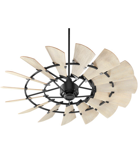 Quorum 96015-69 Windmill 60 inch Noir with Weathered Oak Blades Ceiling Fan photo