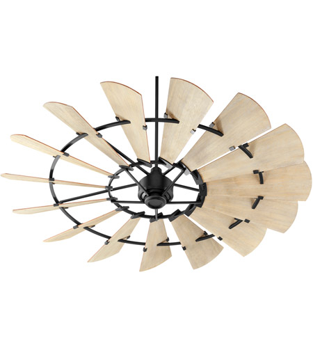 Quorum 97215-69 Windmill 72 inch Noir with Weathered Oak Blades Ceiling Fan photo