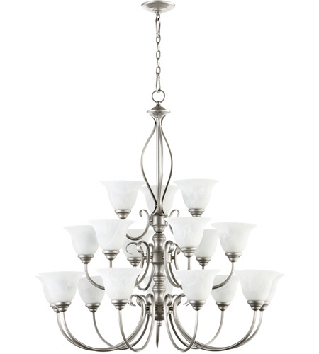Quorum IBS-241 Spencer 18 Light 39 inch Classic Nickel Chandelier Ceiling Light photo thumbnail