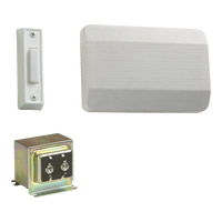 Lighting Accessory White Single Entry Doorbell in 1