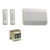 Lighting Accessory White Double Entry Chime Doorbell in 2, 1