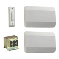 Lighting Accessory White Single Entry Doorbell in 1, 2
